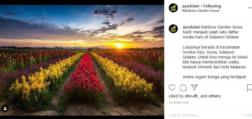 Wisata Baru di Gowa, Rainbow Garden Terlihat Instagramable ...