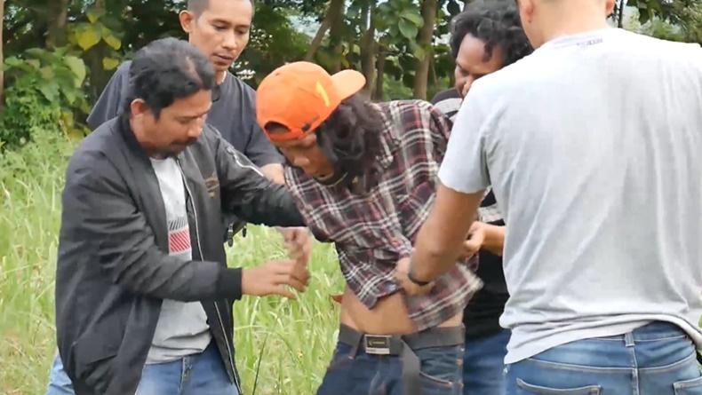 Pelaku curanmor  asal Parepare Anto saat ditangkap polisi (Ichsan Anshari/iNews)