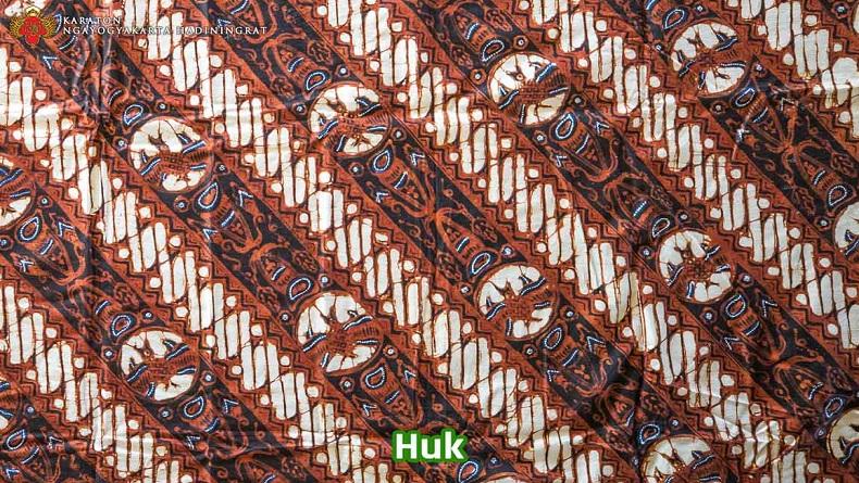 Batik motif Huk (Foto: Dokumen Keraton Ngayogyakarta Hadiningrat)