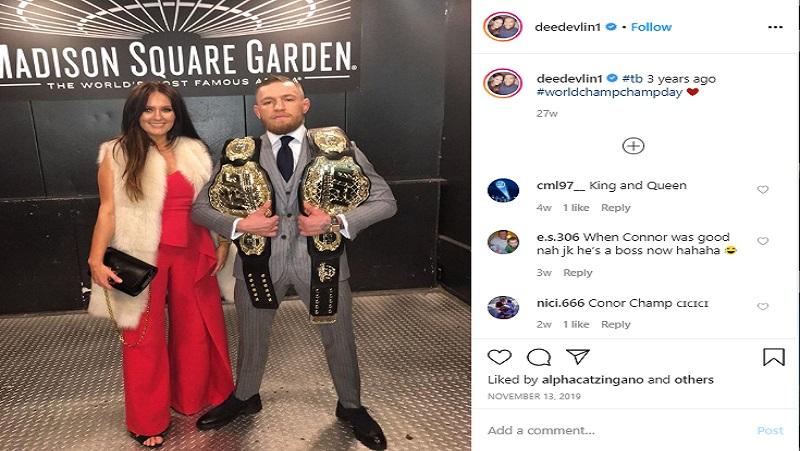 Petarung UFC Connor McGregor dan kekasihnya, Dee Devlin (foto: Instagram)