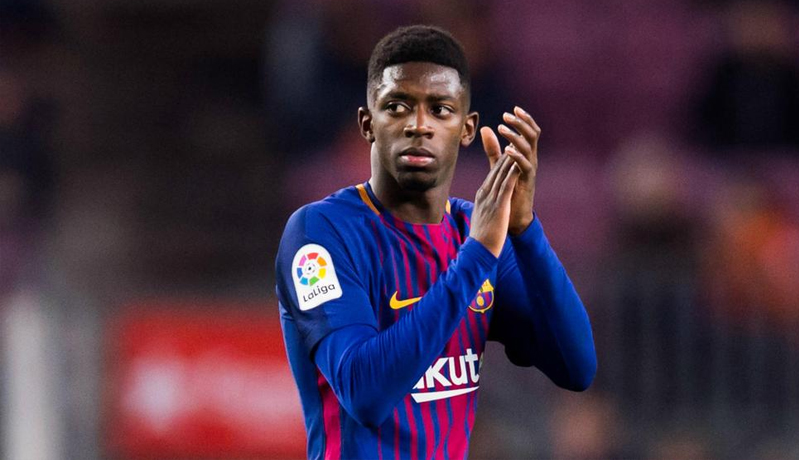Striker Barcelona, Ousmane Dembele (Foto: AS)