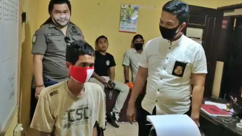 Rudi bapak asal PALI, Sumsel memperkosa anaknya sendiri hingga hamil (Bisrun Silvana/iNews)