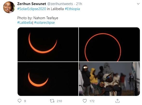 Penampakan Gerhana Matahari di Ethiopia