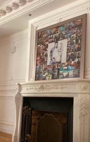 Kolase foto menghiasi atas perapian di rumah baru Icardi. (Foto: Marca)