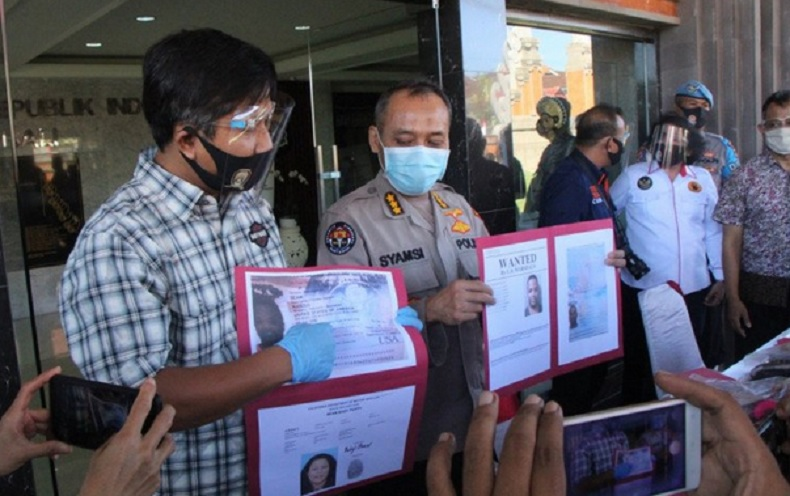 Polda Bali menangkap buronan interpol warga negara Amerika Serikat bernama Beam Marcus.