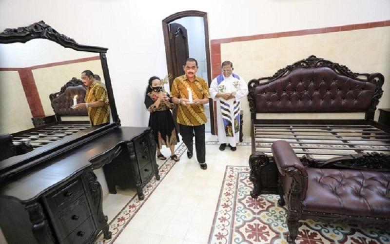 Bagian dalam salah satu ruangan di Rumah Dinas Wali Kota Solo di kompleks Loji Gandrung, Laweyan, Solo. (Foto: Istimewa)