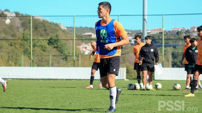 Kelana Noah Mahesa mengikuti seleksi bersama Timnas Indonesia U-19 di Split, Kroasia. (Foto: PSSI)