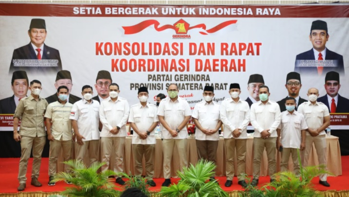 Rapat Konsolidasi Partai Gerindra di Bukittinggi, Sumatera Barat, Rabu (7/4/2021). (Foto: Partai Gerindra).