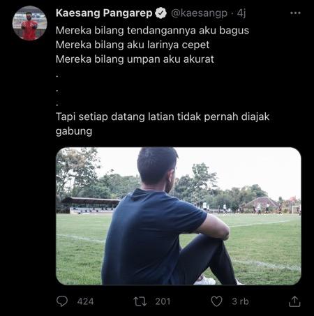 Kaesang curhat di Twitter.