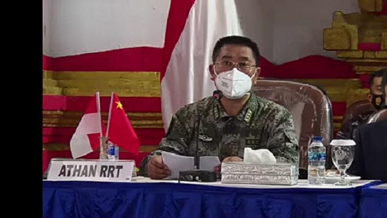 Atase Pertahanan Kedutaan Besar China untuk Indonesia Kolonel Senior Chen Yongjing (Foto: Riezky Maulana)