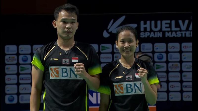 Ganda campuran Indonesia, Rinov Rivaldy/Pitha Haningtyas Mentari juara Spain Masters 2021. (Foto: BWF)