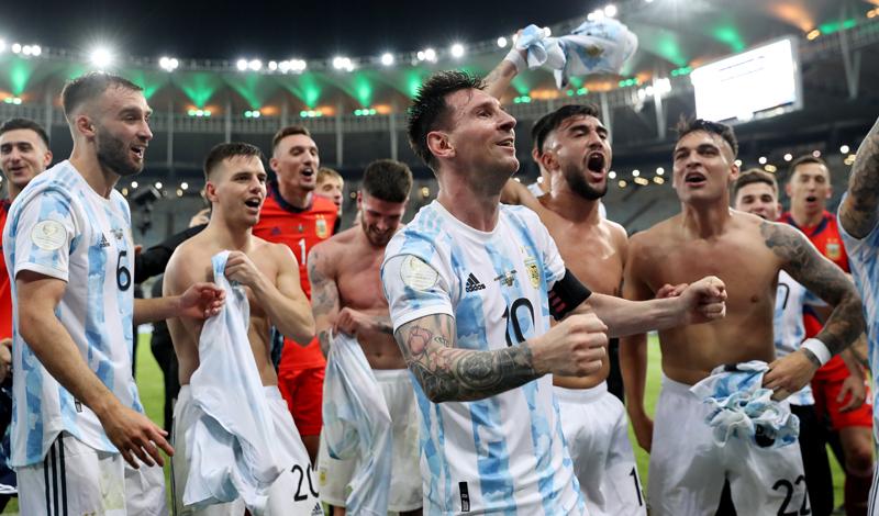5 fakta menarik Argentina juara Copa America 2021.(Foto: Reuters)