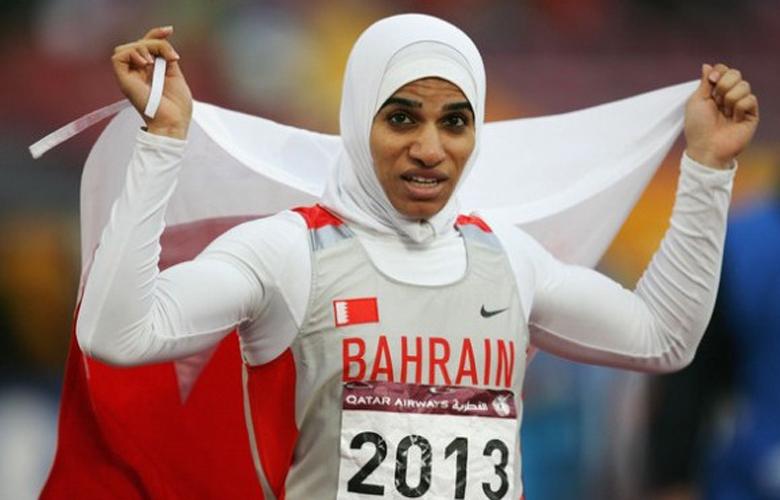 Pelari Bahrain Roqaya Al Gassra. (Foto: Qahiri)