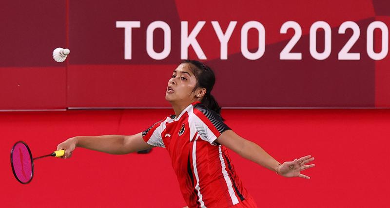 Gregoria Mariska Tunjung menang mudah 21-11, 21-8 atas wakil Myanmar Thet Htar Thauzar pada penyisihan Grup Olimpiade Tokyo 2020, Minggu (25/7/2021) pagi WIB. (Foto: Reuters)