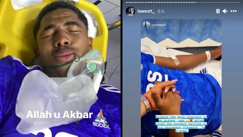 Unggahan Wesley Fofana usai ditekel pemain Villarreal hingga kaki patah. (foto: Sportbible)