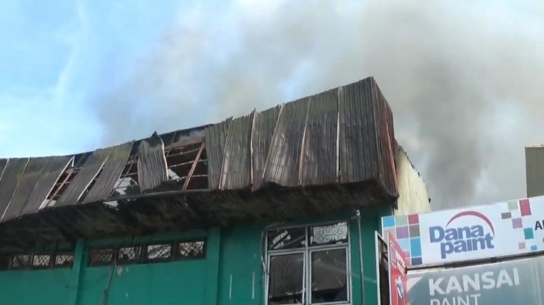 Kebakaran di ruko wilayah Pekojan, Kota Semarang, Jawa Tengah (Donny Marendra/MNC Portal)