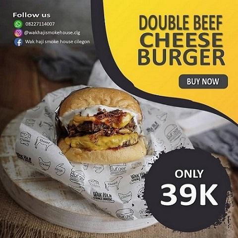 Burger menjaid menu favorit di Wak Haji Smoke House, Cilegon, Banten. (Foto: Istimewa)