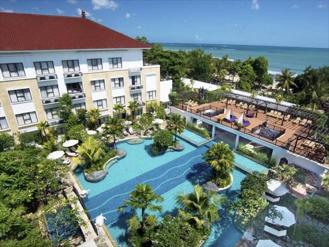 Pemandangan Pantai Kuta dari Hotel Grand Inna Kuta. (Foto: Grand Inna Kuta)