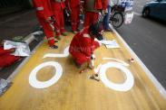 Jalur Khusus Sepeda Motor Jalan MH Thamrin-Merdeka Barat Dicat Kuning