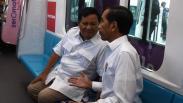 Momen Bersejarah, Jokowi dan Prabowo Satu Gerbong Naik MRT