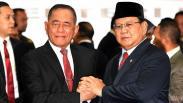 Prabowo Disambut Upacara Militer saat Sertijab Menteri Pertahanan
