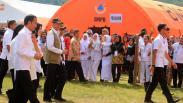 Presiden Jokowi Kunjungi Korban Gempa Ambon di Rumah Sakit Darurat