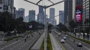 Pantauan PSBB di Jakarta, Arus Lalu Lintas Ramai Lancar