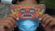 Penampakan Gerhana Matahari Sebagian di Langit Indonesia