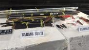 John Kei Cs Ditangkap, Ini Barang Bukti Tombak dan Senjata Tajam yang Disita