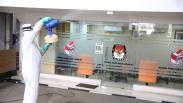 Pegawai Positif Corona, Gedung KPU Disemprot Disinfektan