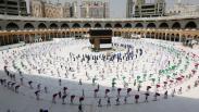Jemaah Haji Tawaf dengan Physical Distancing, Jaga Jarak hingga 2 Meter