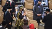 Foto-Foto Presiden Jokowi Berbaju Adat NTT saat Sidang Tahunan MPR
