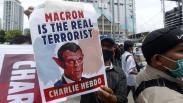 Kecam Presiden Emmanuel Macron, Ribuan Massa PA 212 Demo Kedubes Prancis