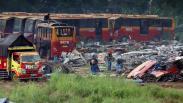 Penampakan 300 Bus Transjakarta Dipotong-potong Jadi Bagian Kecil