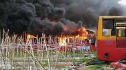 37 Bangkai Bus Transjakarta Ludes Terbakar