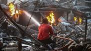 Pangkalan Gas Ludes Terbakar di Medan, Tabung Berhamburan