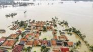 Penampakan dari Udara Banjir Rendam 8.500 Lebih Rumah di Karawang
