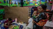 Korban Bencana Angin Puting Beliung Demak Mengungsi di Gedung Sekolah