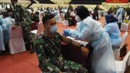 Belasan Ribu Prajurit Disuntik Vaksin Covid-19 di Mabes TNI