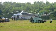 Helikopter Water Bombing BNPB Siaga Cegah Karhutla di Sumsel