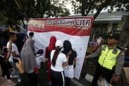 Aksi Tanda Tangan Dukungan untuk Polri Berantas Terorisme