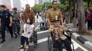Gubernur Anies Resmikan Jalur Khusus Disabilitas di Halte Transjakarta BI