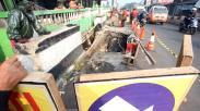 Jalan Utama Sawangan-Depok Amblas, Lalu Lintas Macet