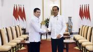 Momen HT dan Kader Perindo Bertemu Jokowi di Istana Bogor