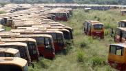 Penampakan Ratusan Bus Transjakarta Tak Terawat Parkir di Bogor