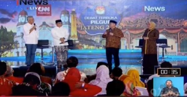 Akhiri Debat Pilgub Jateng, Gus Yasin dan Ida Saling Perang Hadis