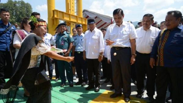 Menko Maritim dan Menhub Resmikan KMP Ihan Batak di Ajibata Danau Toba