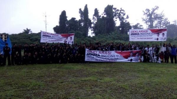 Jawara Indonesia Papua Barat Deklarasi Dukung Jokowi-KH Ma'ruf Amin
