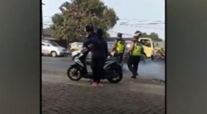 Viral Video Polisi Tendang Pemotor, Ini Penjelasan Wakapolresta Tangerang
