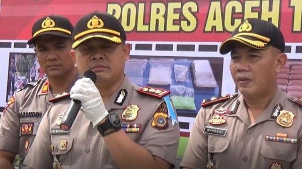 Polres Aceh Tangkap 16 Tersangka Kasus Narkoba, 1 di Antaranya Wanita